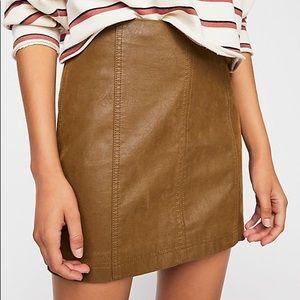 Free people modern femme vegan suede mini skirt 4